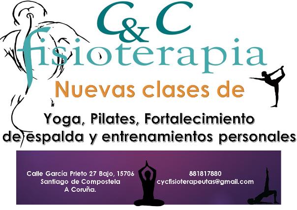 Nuevas clases de Yoga, Pilates, Fortalecimiento de espalda y entrenamientos personales en CyC Fisioterapia