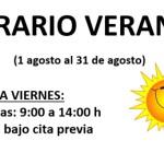 Horario de Verano Clinica Fisioterapia CyC