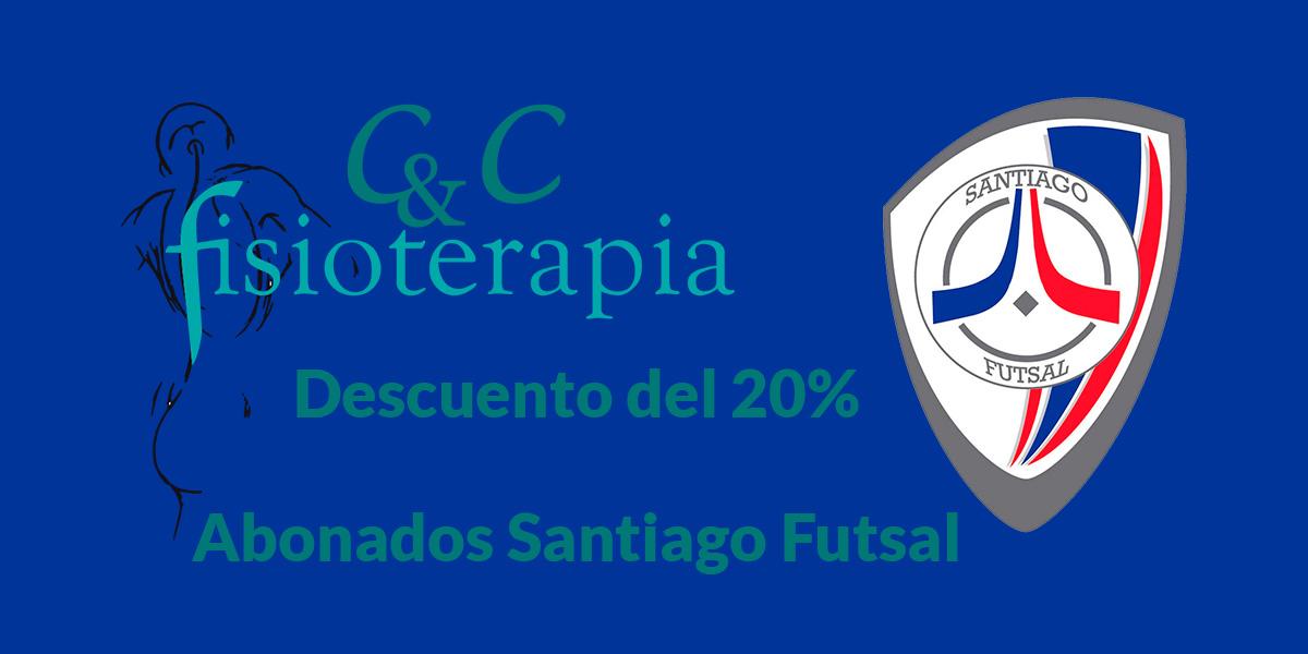 Descuentos Fisioterapia por convenio con Santiago Futsal