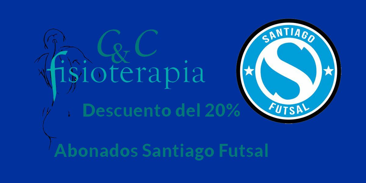 Descuentos Fisioterapia por convenio con Santiago futbol sala