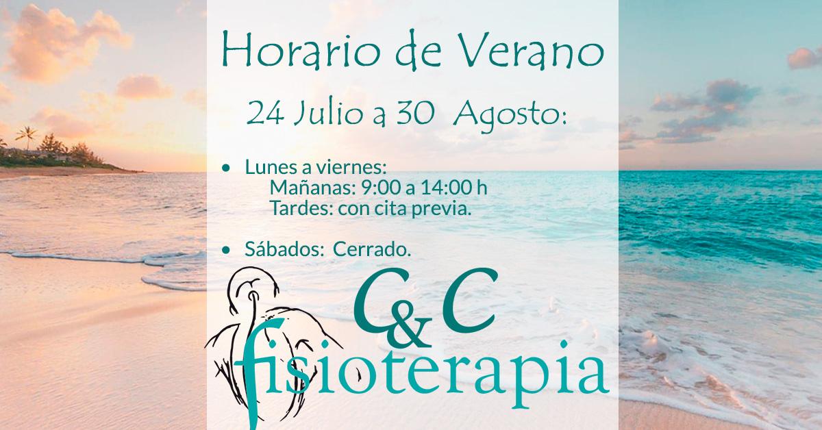 Horario de Verano CyC Fisioterapia Santiago 2020