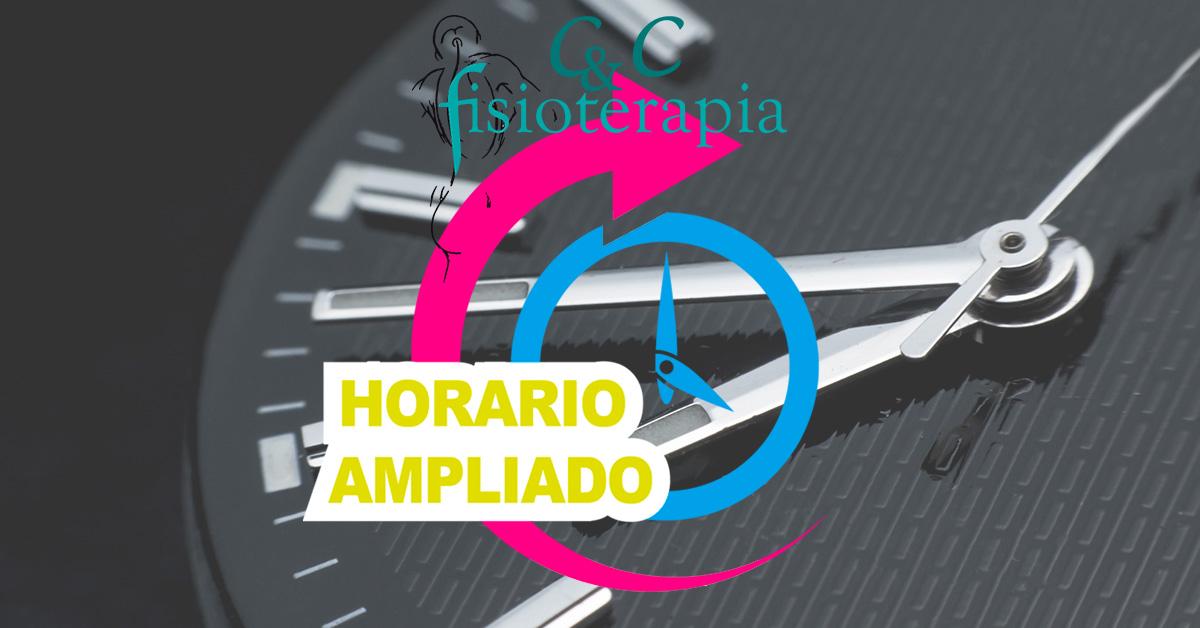 Horario Ampliado Clinica Fisioterapia CyC Santiago